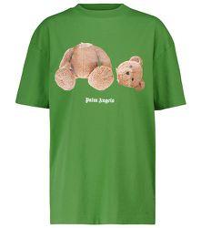 T-shirt en jersey de coton imprimé - Palm Angels - Modalova