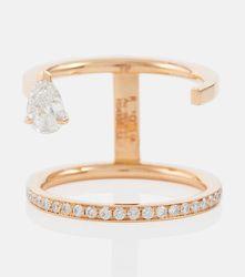 Bague Serti Sur Vide en or rose 18 carats avec diamants - Repossi - Modalova