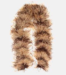 Écharpe en plumes, mohair et laine mélangés - Miu Miu - Modalova