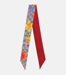 Foulard GG Flora imprimé en soie - Gucci - Modalova