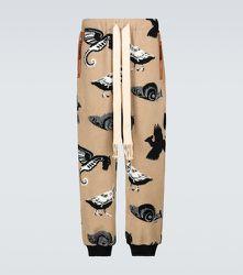 Pantalon de survêtement en jacquard de polaire - LOEWE - Modalova