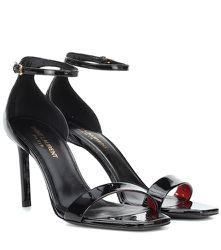 Sandales en cuir verni Amber 85 - Saint Laurent - Modalova