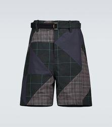 Short en coton à carreaux - sacai - Modalova