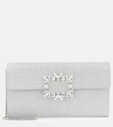 Pochette Evening Enveloppe à paillettes et cristaux - Roger Vivier - Modalova