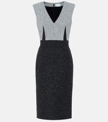Robe fourreau en tweed de laine mélangée - Alexander McQueen - Modalova