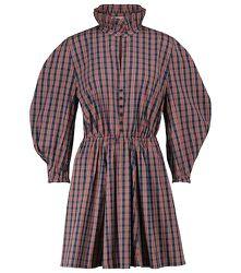 Robe en coton mélangé à carreaux - Philosophy di Lorenzo Serafini - Modalova