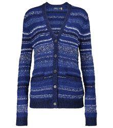 Cardigan rayé en laine mélangée - Polo Ralph Lauren - Modalova