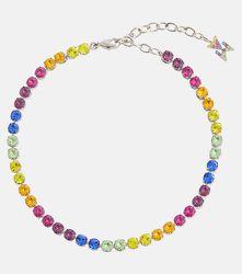 Bracelet de cheville Tennis à ornements - Amina Muaddi - Modalova