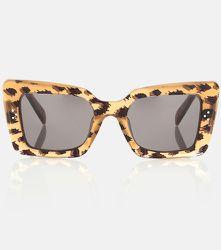 Lunettes de soleil rectangulaires à motif léopard - CELINE Eyewear - Modalova