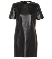 Robe en cuir - Saint Laurent - Modalova