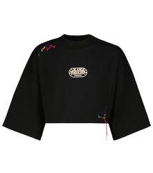 X Missoni – T-shirt raccourci à logo en coton - Palm Angels - Modalova
