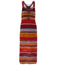 Robe longue Marsala en crochet à rayures - ANNA KOSTUROVA - Modalova