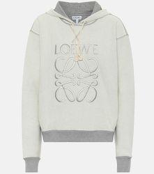 Sweat-shirt Anagram réversible en coton à capuche et logo - LOEWE - Modalova