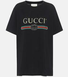T-shirt en coton imprimé - Gucci - Modalova