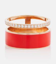 Bague Berbere Chromatic en or rose et diamants - Repossi - Modalova