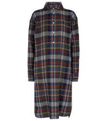 Robe midi en coton à carreaux - Polo Ralph Lauren - Modalova