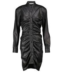 Robe froncée en cuir synthétique - Philosophy di Lorenzo Serafini - Modalova