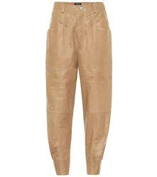 Pantalon Xiamao à taille haute en cuir - Isabel Marant - Modalova