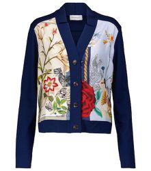 Cardigan en laine et soie à fleurs - Salvatore Ferragamo - Modalova