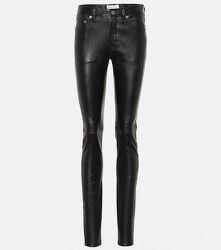 Pantalon skinny en cuir - Saint Laurent - Modalova