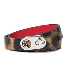 Bracelet Elisa en cuir à motif léopard - Christian Louboutin - Modalova