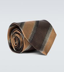 Cravate rayée en soie - Dries Van Noten - Modalova