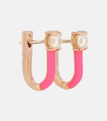 Boucles d'oreilles Aria en or 18 ct et diamants - Melissa Kaye - Modalova