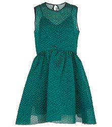 Mini-robe en soie mélangée cloquée - Victoria Victoria Beckham - Modalova
