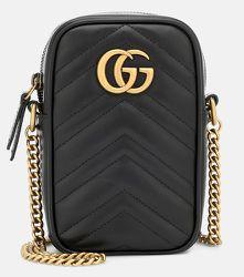 Sac à bandoulière GG Marmont Mini en cuir - Gucci - Modalova