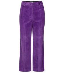 Pantalon ample en velours côtelé de coton - Victoria Beckham - Modalova
