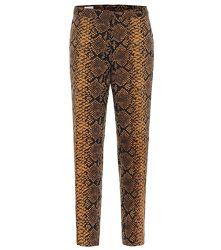 Pantalon droit en laine à motif serpent - Dries Van Noten - Modalova