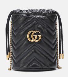 Sac seau GG Marmont Mini en cuir - Gucci - Modalova