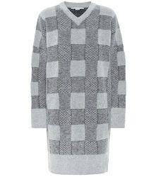 Robe pull en laine mélangée à carreaux - STELLA McCARTNEY - Modalova