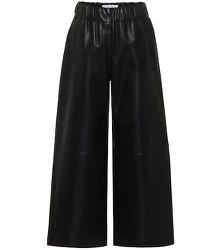 Pantalon en cuir à taille haute - LOEWE - Modalova