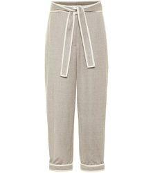 Pantalon droit en laine - STELLA McCARTNEY - Modalova
