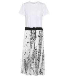Robe longue imprimée plissée en coton - sacai - Modalova