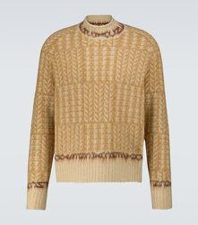 Pull en jacquard de laine mélangée - Acne Studios - Modalova