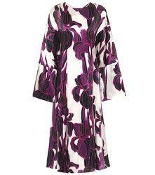 Robe midi en soie à fleurs - Dries Van Noten - Modalova