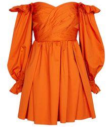 Robe en coton à encolure bardot - Self-Portrait - Modalova