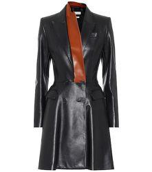 Robe en cuir - Alexander McQueen - Modalova
