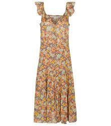 Robe midi Malgosia en coton à fleurs - Veronica Beard - Modalova