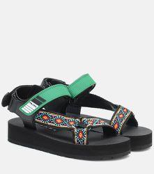 Sandales Nomad brodées - Prada - Modalova