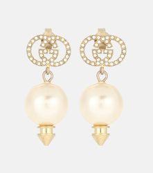 Boucles d'oreilles GG à cristaux et perles fantaisie - Gucci - Modalova