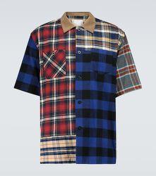 Chemise à manches courtes Plaid Mix - sacai - Modalova
