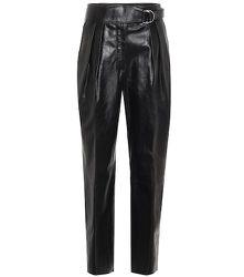 Pantalon à taille haute en cuir - Jil Sander - Modalova
