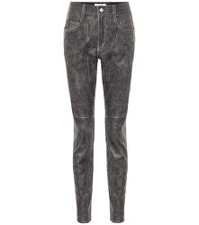 Pantalon skinny Taro à taille haute en cuir - Isabel Marant, Étoile - Modalova