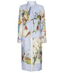 Robe midi en soie à fleurs - Salvatore Ferragamo - Modalova