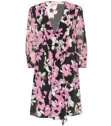 Robe portefeuille en soie mélangée à fleurs - Dorothee Schumacher - Modalova