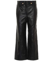 Pantalon raccourci Agee à taille haute en cuir - Veronica Beard - Modalova
