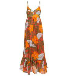 Robe longue Oleander à fleurs en ramie - Lee Mathews - Modalova